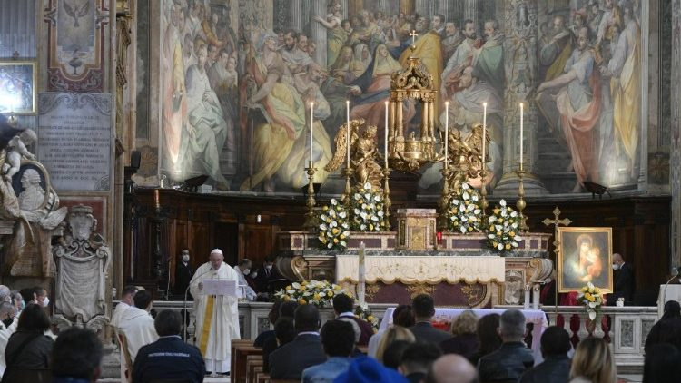 Divine Mercy Sunday in the Church of Santo Spirito in Sassia